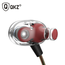 Genuine QKZ KD8 Double Unit Drive In Ear Earphone Bass Subwoofer Earphone HIFI DJ Monito Running Sport Earphone Headset Earbud