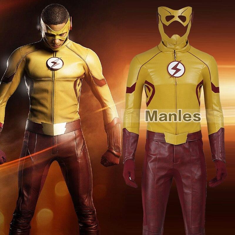 Le Flash Saison 3 Kid Flash Costume Cosplay Wally Adulte Ouest Hommes Tenue Superhero Halloween Cosplay Costume Fait Sur Commande