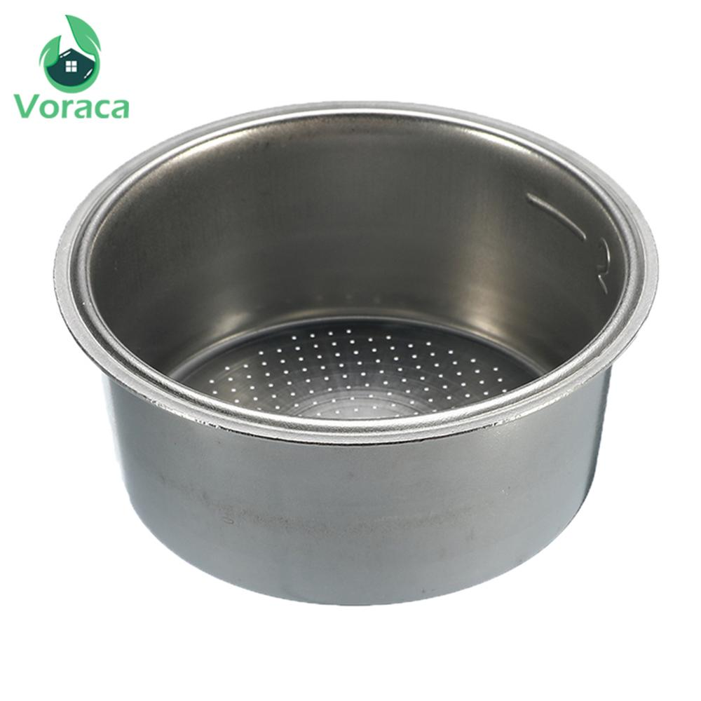 51mm Stainless Steel Coffee Tea Filter Basket Home Non Pressurized Coffee Machine Accessories Powder Bowl Coffee Filter Basket