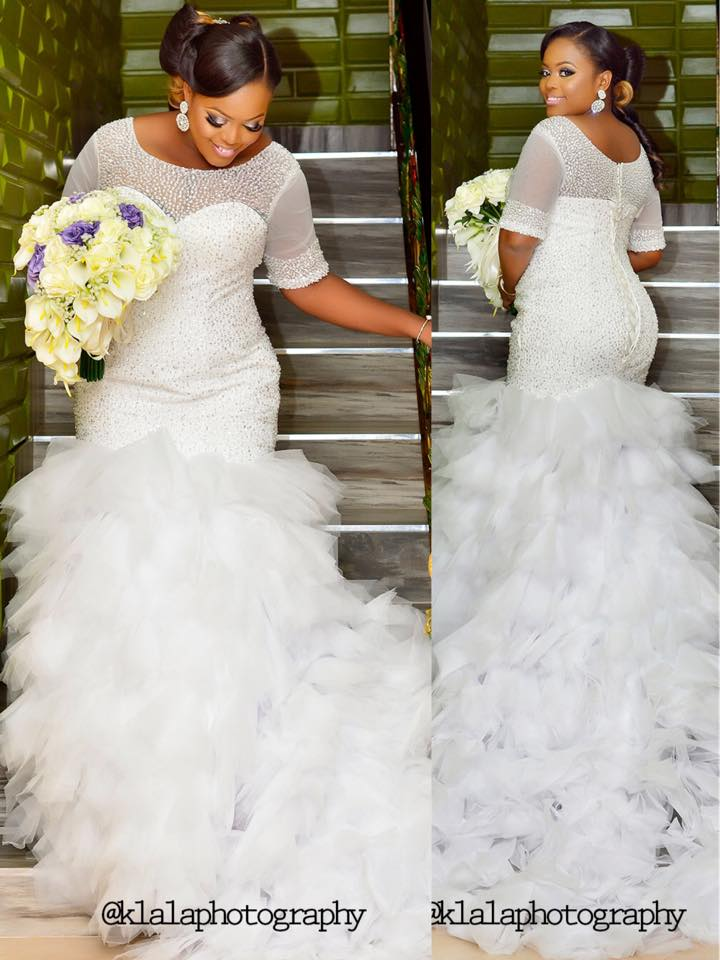 Fully Beaded Mermaid Plus Size Modest Wedding Dresses Half Sleeves Ruffles Tulle Skirt Dubai Full Figure Bridal Gowns Couture In From