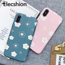 Elecshion Cute Phone Case For iPhone Xr 8 7 6 6s Plus Shockproof Cover X Xs Max Capa Bumper Coque Flower TPU