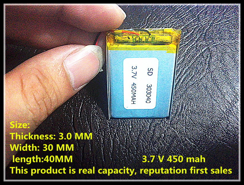 все цены на 3.7V,450mAH,[303040] PLIB; polymer lithium ion / Li-ion battery for dvr,GPS,mp3,mp4,cell phone,speaker онлайн