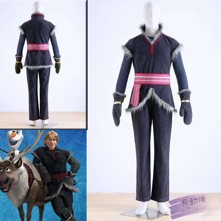 halloween costumes for men adult Disnye snow grow elsa anna Kristoff cosplay costume cartoon cosplay adult kristoff costume