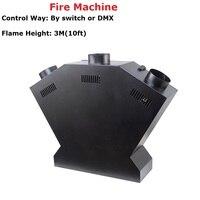 Пример цена Новое поступление 3 головки 200 Вт пожарная машина для стадии эффект пожарная машина 110 240 В Indoor Применение безопасный Пламени Про