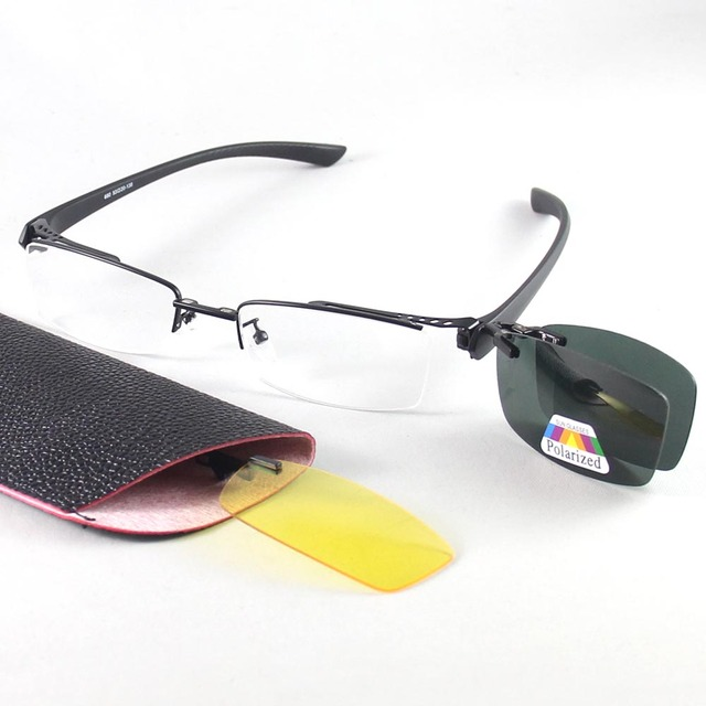 8ea6025427f Half Rimless Eyeglasses Frames Alloy Glasses Frame Men Women Polarized sunglasses  clip on Optical Eyeglasses RUI