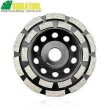 цена на 125MM Metal bond Diamond Double Row Grinding Cup Wheel 5 Twin Row Grinding disc for concrete granite marble Masonry