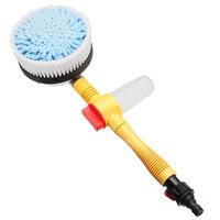 Retractable Multifunction Automatic Washing Brush Water Foam Automatic Rotate Brush Portable Nozzles Electric Car Wash Brush