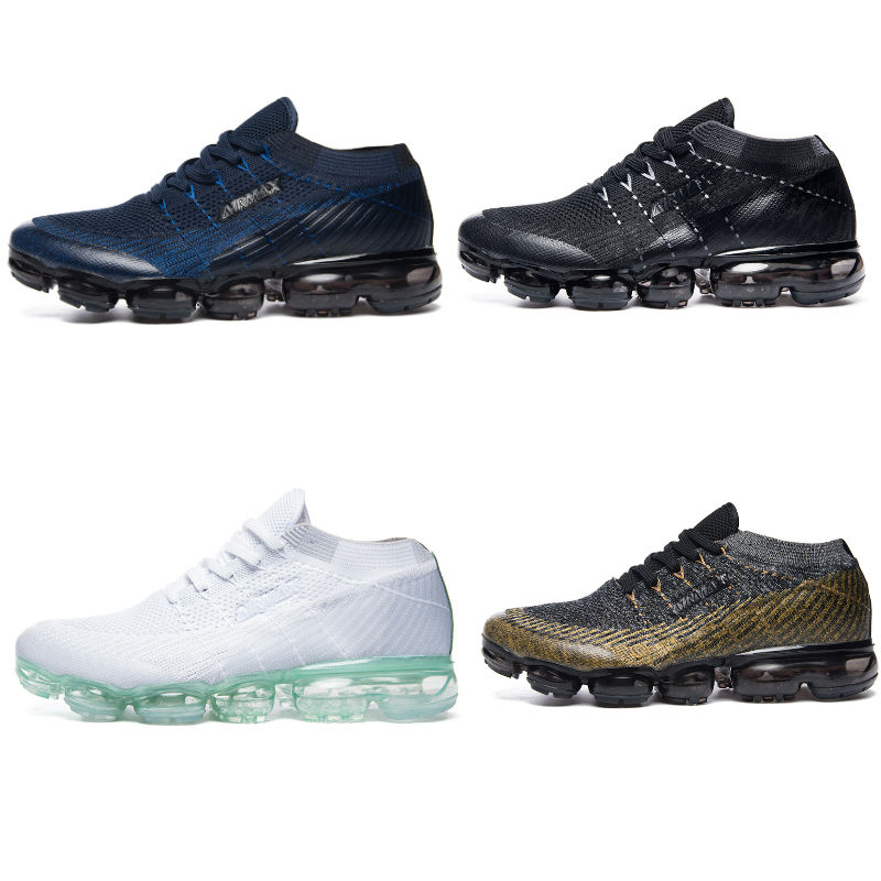 2018 New Flyknit Breathable vapormax Shoes air Cushion Athletic Sneakers Men Running Shoes tn Wear-resistant Lightweight shoes