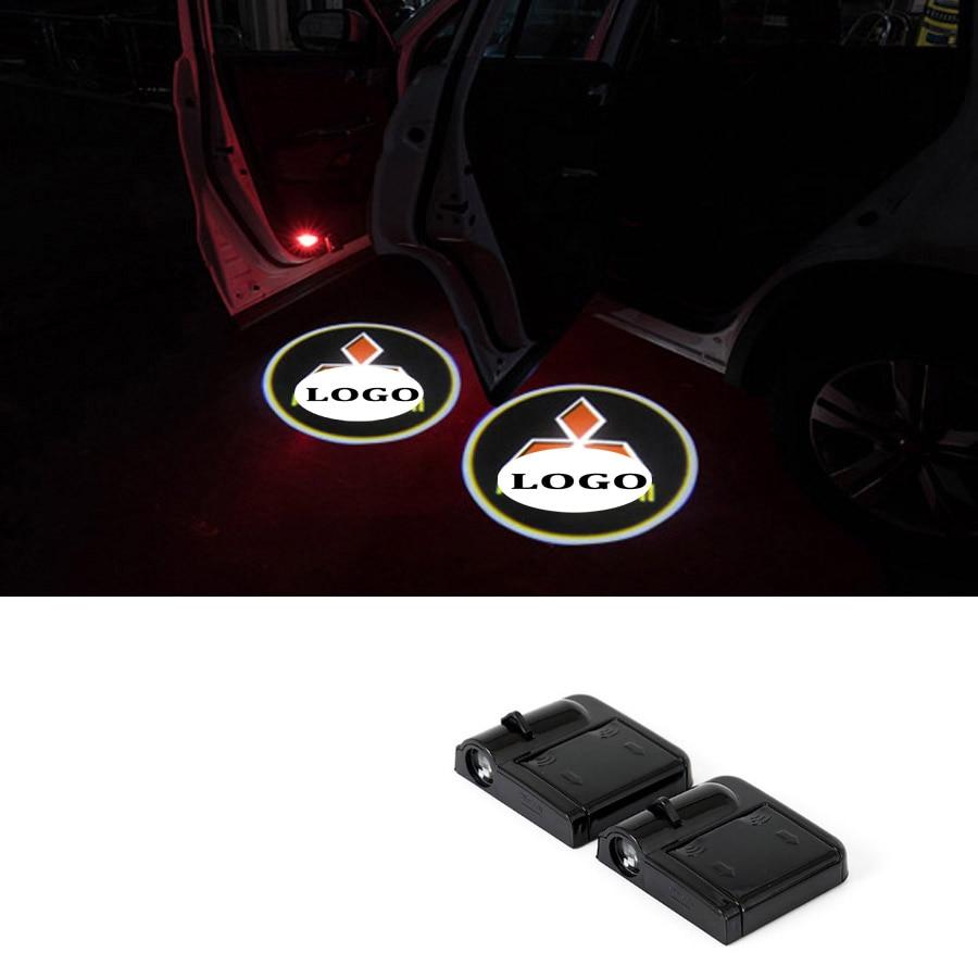 Wireless Car Door Welcome Logo Light Projector For Mitsubishi Lancer Galant Lancer IX Outlander Lancer EX Pajero Eclipse