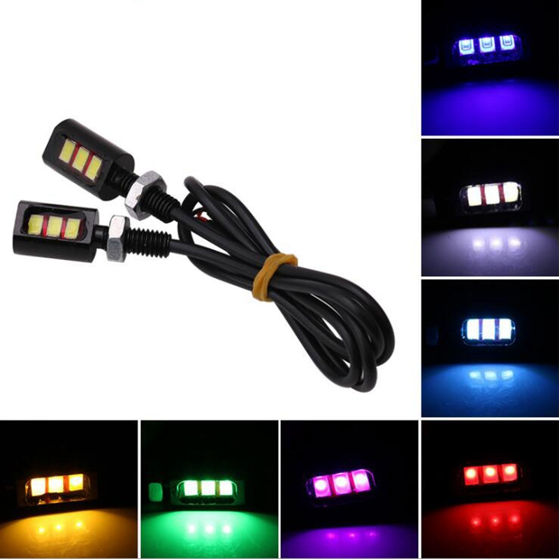 1Pcs !! 12V Universal Car Auto Motorcycle Car 2 LED Tail Number License Plate Light Screw Bolt Eagle Eye Lights Lamp