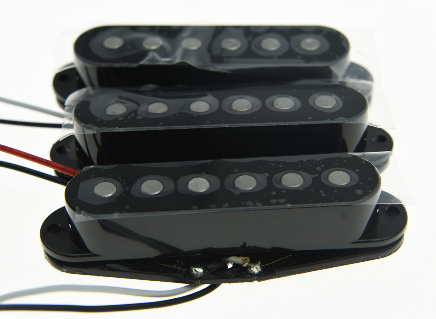 KAISH 3x N/M/B Black Alnico 5 Single Coil Pickups High Output Sound Strat SSS Pickup kaish 3x silver mirror guitar single coil pickup surround ring for sized pickup
