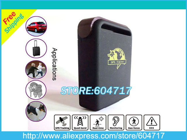Free Shipping Mini Portable GPS Tracker Tracking system For Personal Car Pet Motorcycle security (TK102)