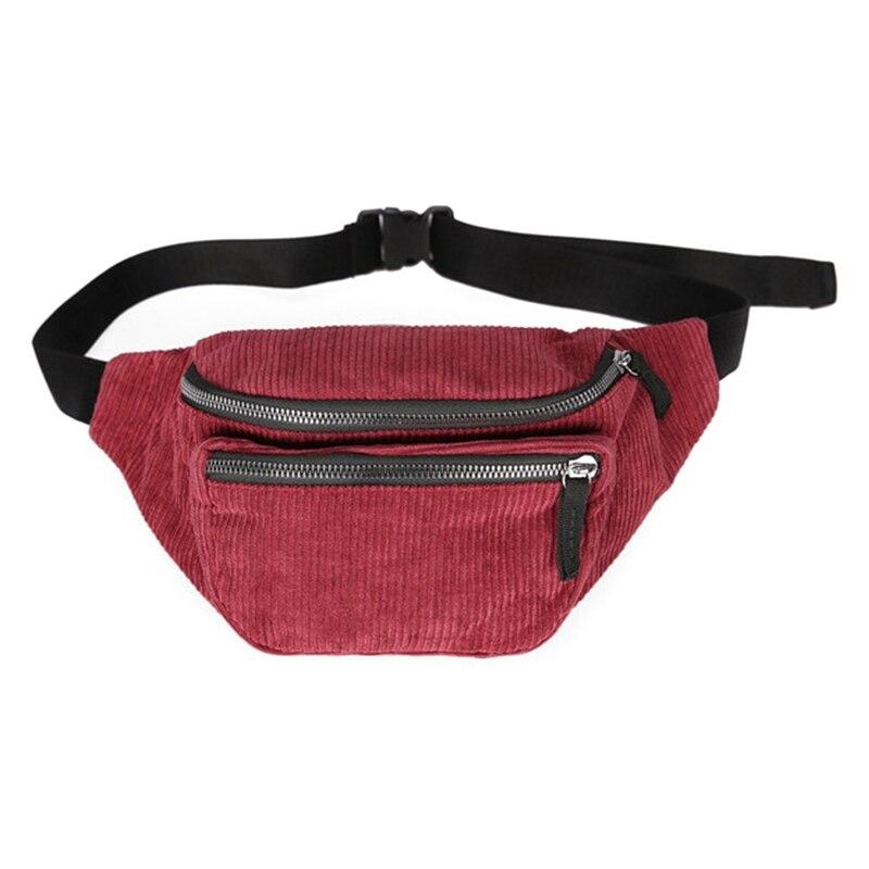 Canvas Waist Bag Unisex Zipper Chest Bag Street Sport Casuale Fanny Pack Girl Boy Waist Belt Bags Fashion Phone Waist Pack