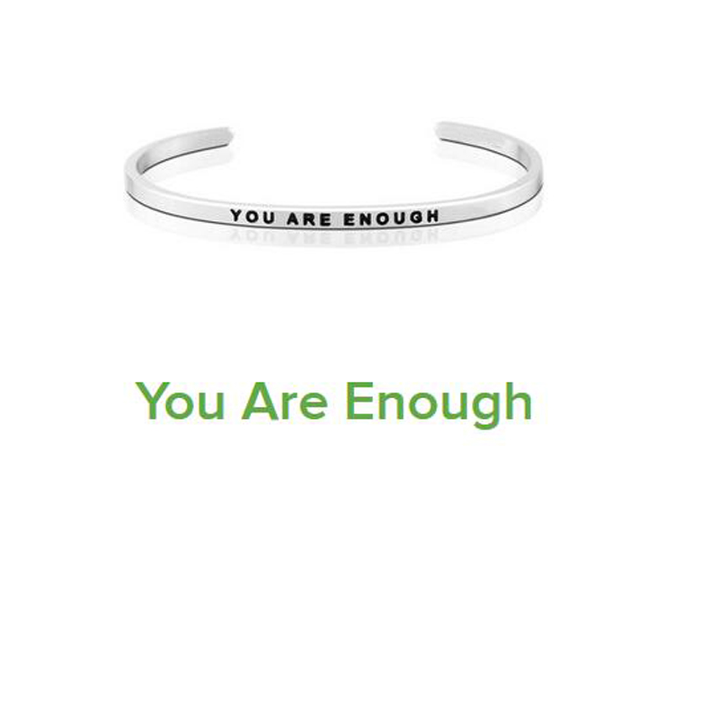 Custom Positive Inspirational Bracelet Personalized Jewelry Initial Engraved Everything Will Be Alright Bracelet Bangle for Men in Bangles from Jewelry Accessories
