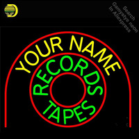 Records Tapes Neon Sign Your name Real GLASS Tube Handcraft Light Signs custom logo personalized vintage neon lamps wholesale|Neon Bulbs & Tubes|Lights & Lighting -