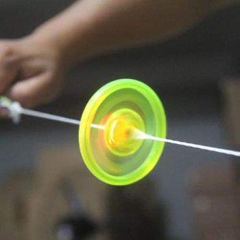 Cable Flash Flywheel Gyro Light UFO Childrens Night Fitness led toys glow in the dark saucer flying kid haloween gift