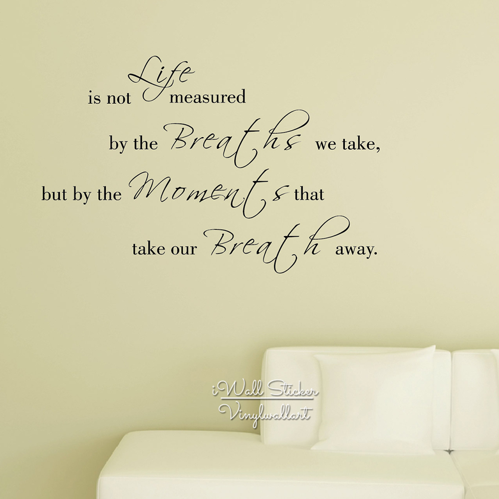 Life Quote Wall Sticker Inspirational Quote Wall Decal DIY Removable Wall Quotes Easy Wall Art Cut Vinyl Stickers Q100-in Wall Stickers from Home u0026 Garden ...  sc 1 st  AliExpress.com & Life Quote Wall Sticker Inspirational Quote Wall Decal DIY Removable ...