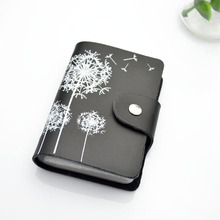 2016 Genuine Leather Print Women Business Card Holder 8 Colors ID Card Credit Card Holder Protector Organizer Card Wallet DC57