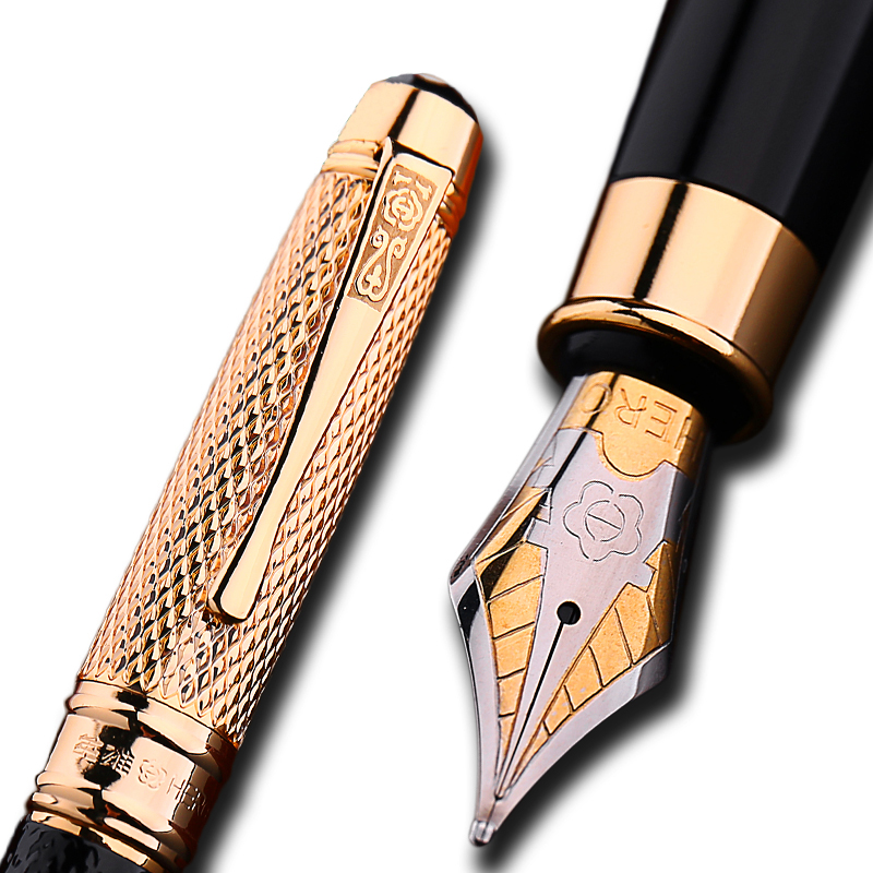 Golden Cap Iraurita fountain pen 0 5mm ink pens for writing caneta tinteiro Stationery Office school
