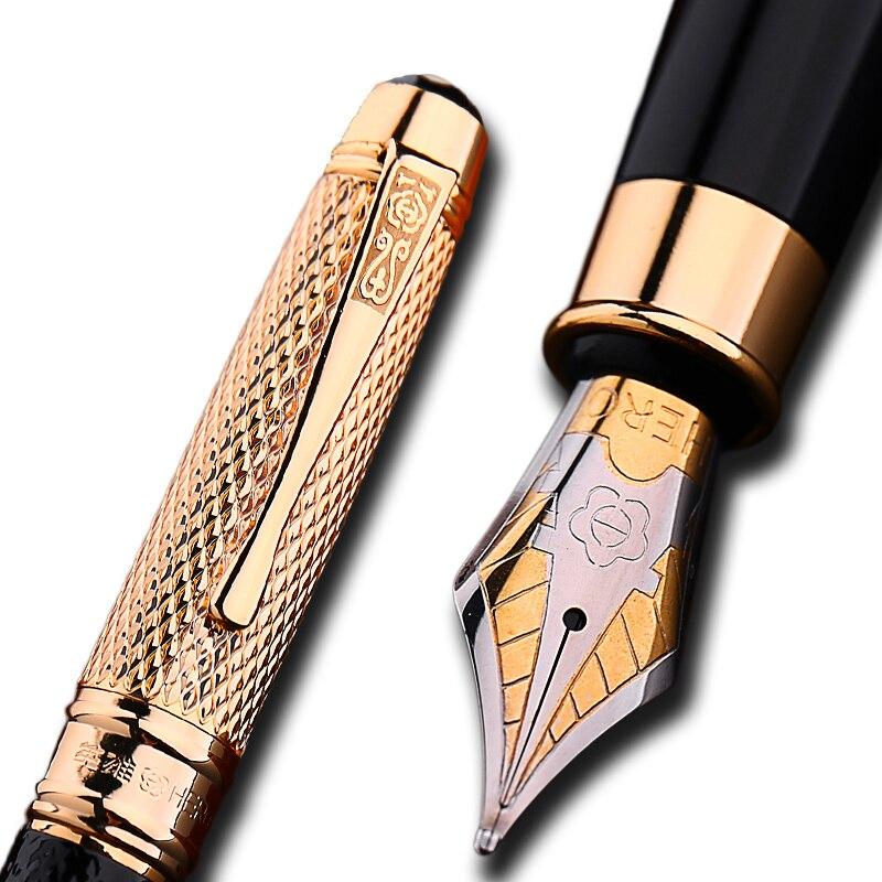 Tappo dorato Iraurita penna stilografica 0.5mm penne a inchiostro per la scrittura caneta tinteiro scuola Ufficio di Cancelleria dolma kalem 1029