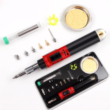 Gas soldering iron kit wireless self-ignition mini torch torch repair welding station tip pyrography wood tools недорого