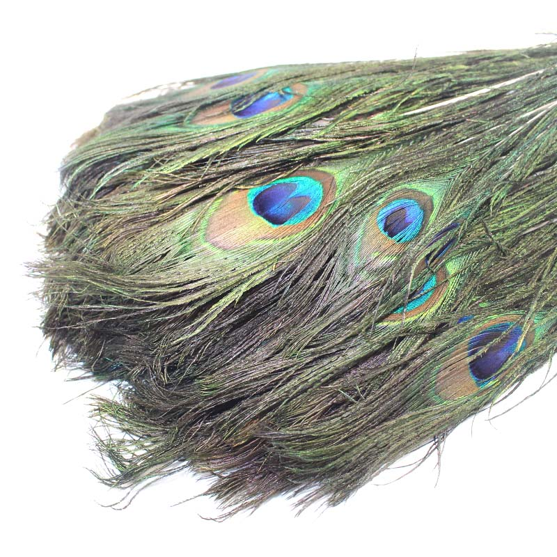 100pcs natural peacock feathers 10 12 39 39 party mask for Peacock feather decorations home