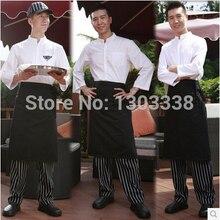 Chef sets kitchen cook suit chef kits chef uniform Checkedout 4 pieces/set hat+shirt+apron+pants working clothes