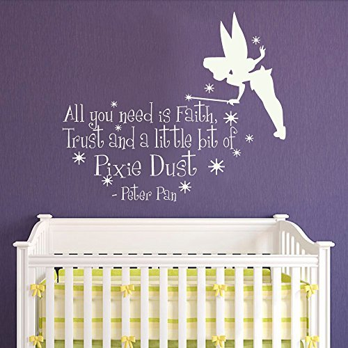 Peter Pan cartoon Vinyl Decor Home Decor Poster Wall Art Nursery Bedroom Soccer Wall Sticker M184