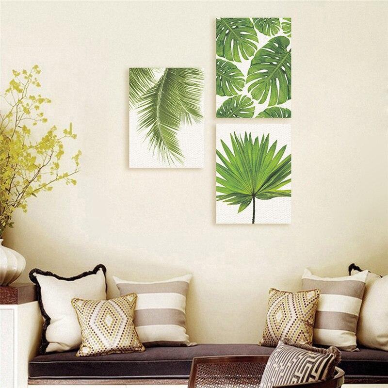 HOT SALE] Tropical Banana Leaf Canvas Painting Fresh Palm