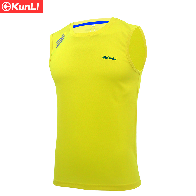 Kunli 2017 new men's tennis shirt outdoor sports O collar clothing running badminton clothing basketball short Soccer T-shirt(China)
