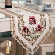 WINSTBROK Embroidered Hollow Table Runner party wedding runner Modern Runners Decoration
