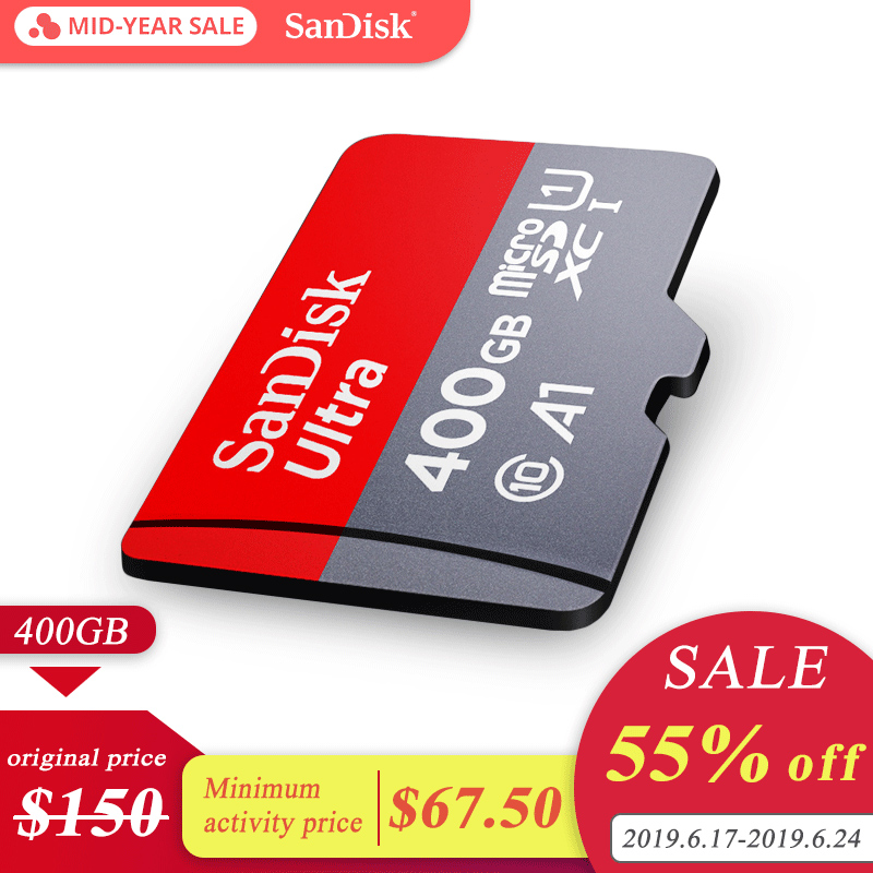 Carte mémoire SanDisk A1 carte micro SD carte tf classe 10 SDXC Ultra SDHC 400 GB 100 MB/S UHS-I