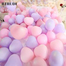 BTRUDI 10 inch 30pcs/lot macaroon heart-shaped romantic wedding thickened balloons combination decoration happy birthday