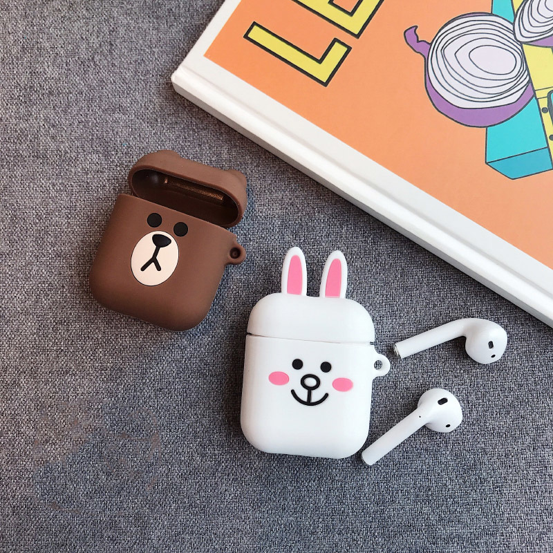 Image 5 - VOZRO Cartoon Wireless Bluetooth Earphone Case For Apple AirPods Silicone Charging Headphones Cases For Airpods Protective Cover-in Earphone Accessories from Consumer Electronics
