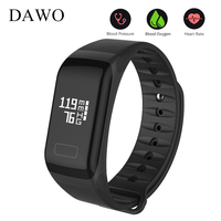 DAWO Fitness Bracelet Activity Tracker Blood Pressure Oxygen Heart Rate Monitor Sport Waterproof Smart Wristband PK