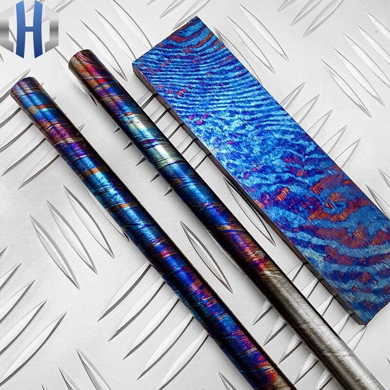 Titanium EDC Material Sheet Round Rod Titanium Material Holder Round Bar Titanium in Knives from Tools