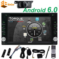 New Customized Black Car DVD Player Android 6 0 Two 2Din Car Stereo Auto Radio Player