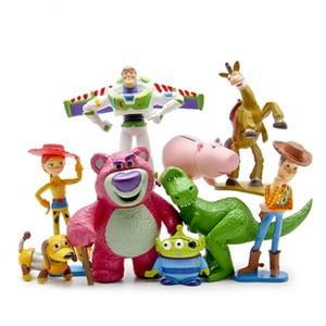 Image 4 - 디즈니 토이 스토리 풀 컬렉션 보안관 우디 버즈 라이트 이어 제시 hamm rex slinky dog 미스터 감자 머리 인형 액션 피규어