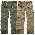 AIRGRACIAS Alta Calidad Pantalones Cargo de Los Hombres Bragas Ocasionales Multi Bolsillo Militar para Los Hombres Pantalones Largos Más El tamaño 28-40 El Envío Libre
