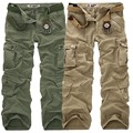 AIRGRACIAS Calças Cargo dos homens de Alta Qualidade Calça Casual de Multi Bolso Militares para Os Homens Calças Compridas Plus Size 28-40 Frete Grátis