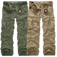 Free Shipping 30 40 Plus Size High Quality Men S Cargo Pants Casual Pant Multi Pocket
