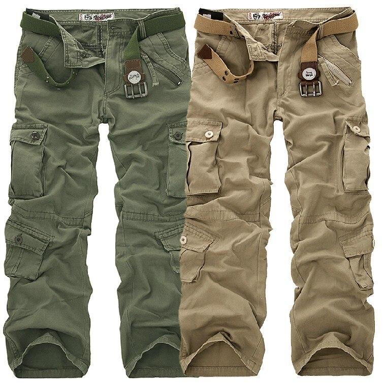 Airgracias высокое качество мужские брюки-карго повседневные брюки мульти карман военный мужчины длинные брюки плюс размер 28-40 бесплатная доставка