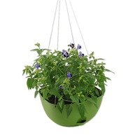 Plastic Self Watering Hanging Planter with chains for Home Garden Yard Decor