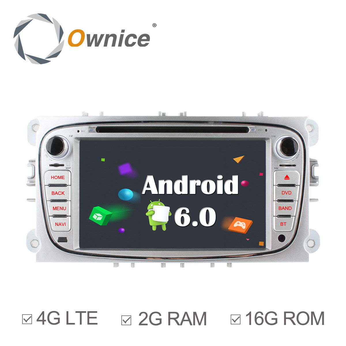 Ownice C500 4 Core Android 6.0 2G RAM Car DVD GPS For Ford Mondeo Focus 2 S-max 2007-2013 radio Support 4G LTE Network DAB+ TPMS