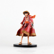 Hot One Piece Luffy Action Figure Toys After 2 Year 17CM One Piece Red Cape Luffy PVC Collection Doll Toys for Christmas Gifts