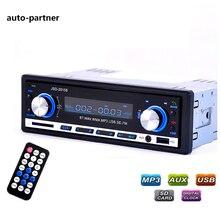 Rádio do carro Do Bluetooth V2.0 JSD 20158 Stereo Car Audio Autoradio em-traço Receptor FM Receptor USB MMC MP3 WMA Aux Input rádio
