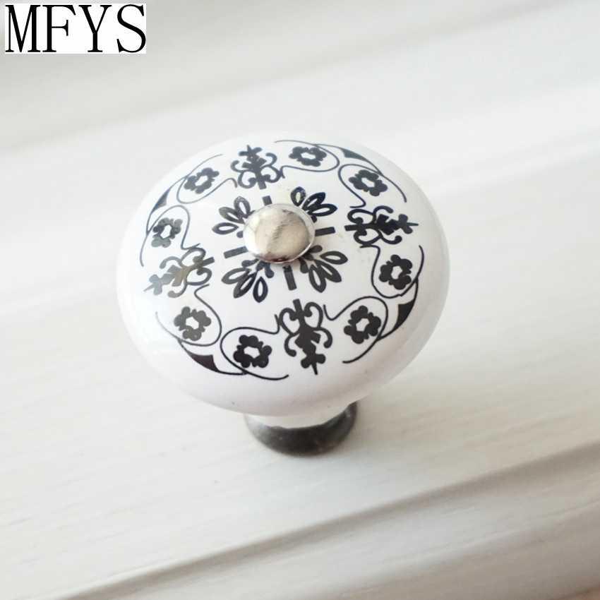 Furniture Handles Chic Ceramic Knobs Cabinet Dresser Drawer Furniture Knob White Black