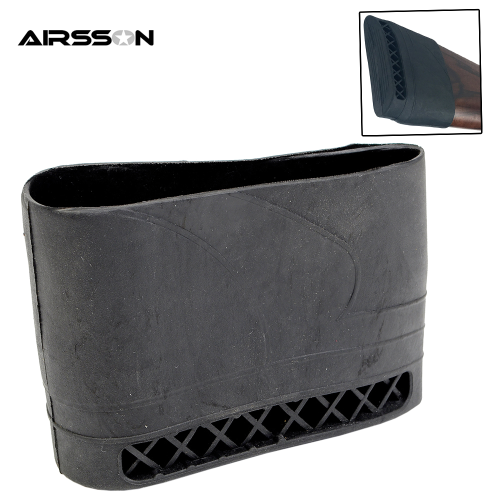 Rubber Recoil Pad Slip On Buttstock Shooting Gun Butt Protector-in ...