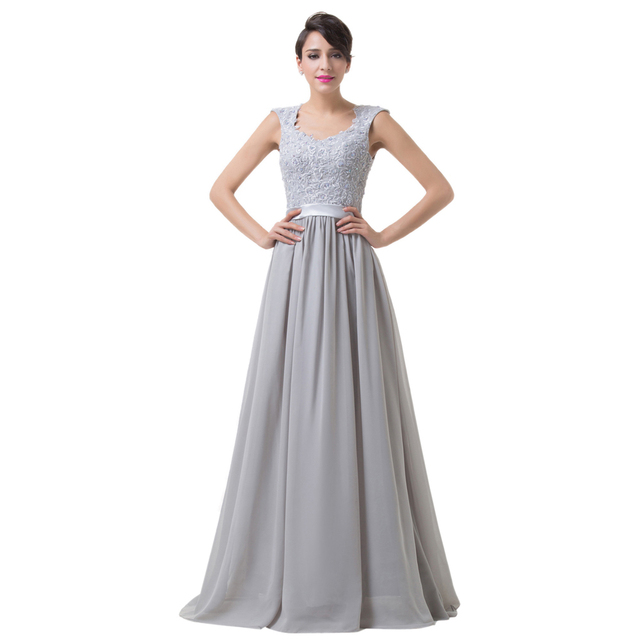Cap Sleeve Long Evening Dresses 2017 Sexy Party Gown Plus Size Prom ...