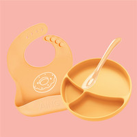 Children's Silicone bowl Sucker Bowl children plate baby silicone plate baby feeding dish